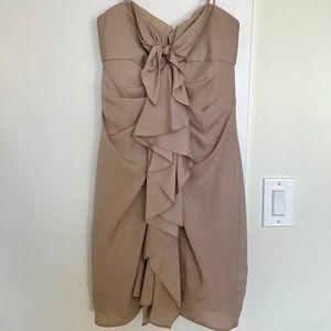BCBGMAXAZRIA Front Ruffle Dress